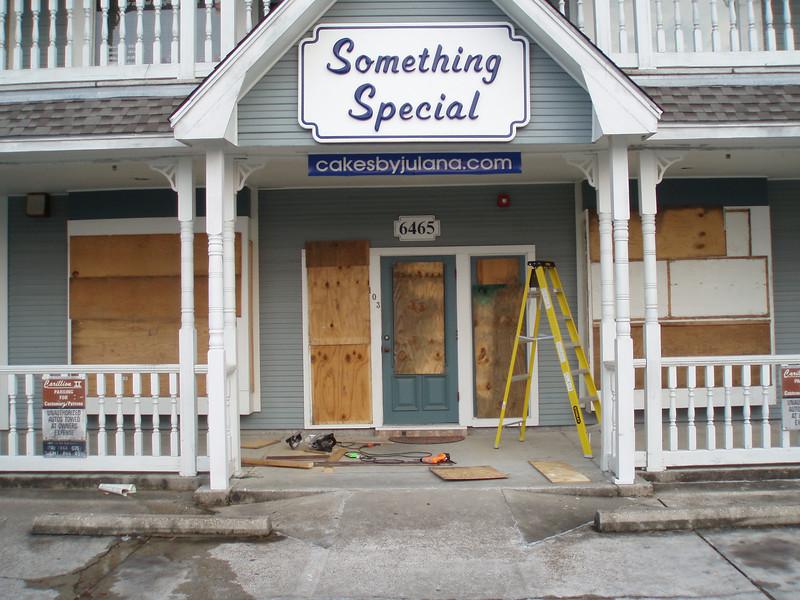 Hurricane Gustav, 9/01/2008, missed us thankfully. Better safe than sorry.