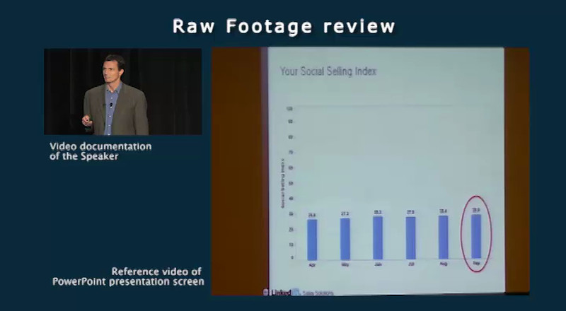 Raw Footage Review Video clip<br /> <br /> Speaker: Ralf VonSosen, LinkedIn<br /> Event: AA-ISP Inside Sales 2012<br /> part: 3 of 4