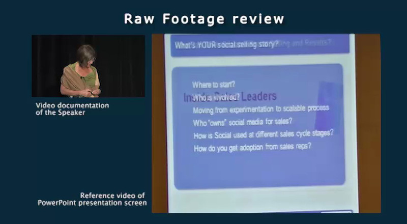 Raw Footage Review Video clip<br /> <br /> Speaker: Ralf VonSosen, LinkedIn<br /> Event: AA-ISP Inside Sales 2012<br /> part 4 of 4