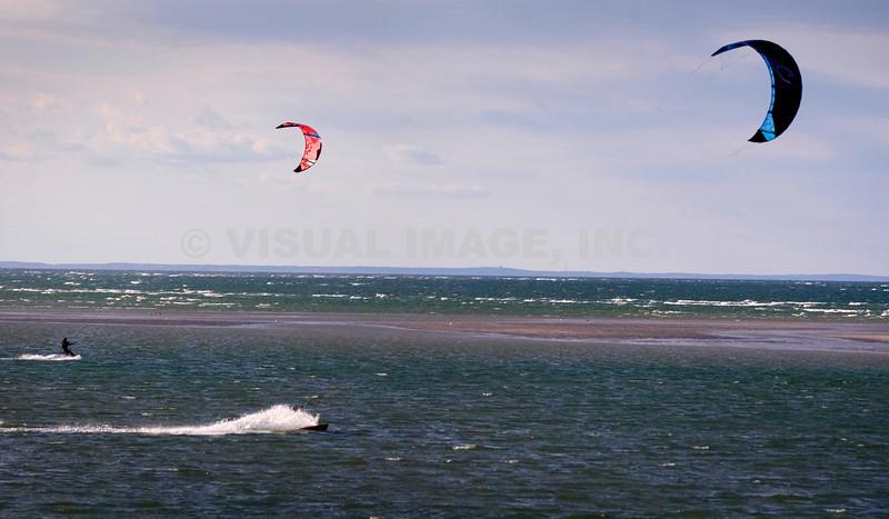 Kite Surfers - Stock