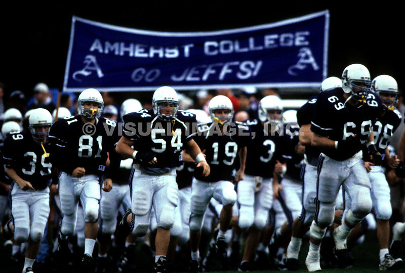 The Football Team from Amherst College Take the Field,  Amherst, MA.<br /> (c) Tom Croke/Visual Image, Inc.