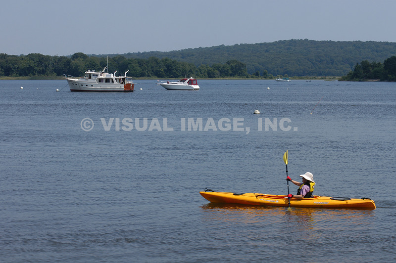 Kayaking on the Connecticut River, Essex, CT.