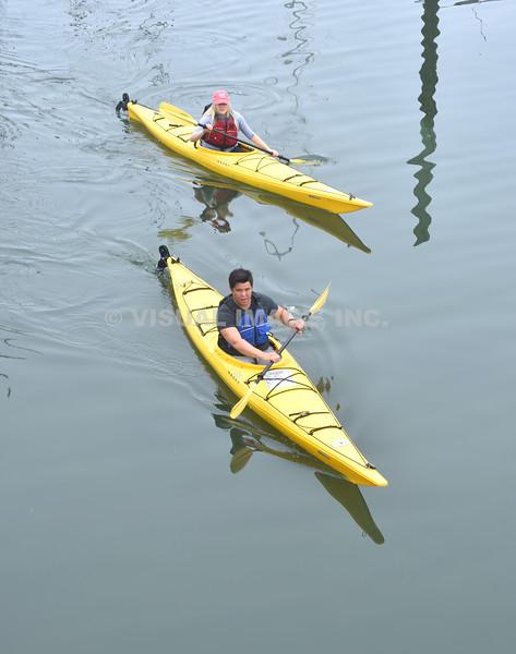 Kayakers - Stock