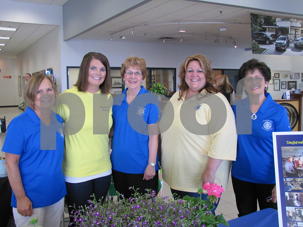 Karla Shimon, Lindsey Boeckman, Diane Knupp, Letitra Christnagel, and Sandy Fletcher of Day Break Rotary