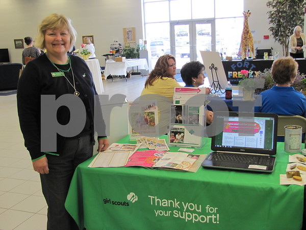 Anita Matchie offered information about the Girl Scouts