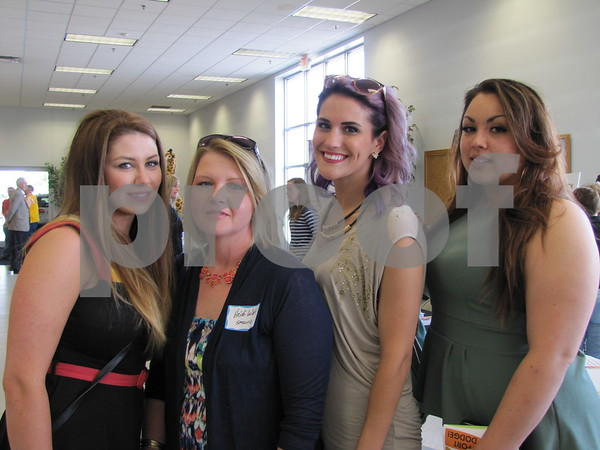 Lindsey Holm, Heidi Winter, Sheena Rether, and Tianna Brown attended the networking event.