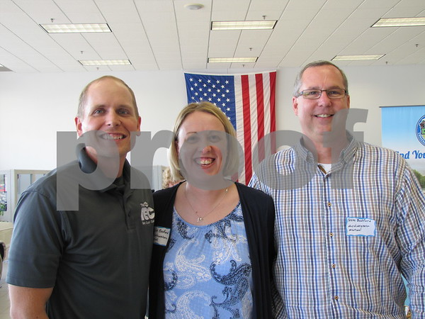 Matt Hanson of Fort Dodge REC, Nicole and Steve Bedford of NW Mutual were at the networking event to visit with young professionals in the area.