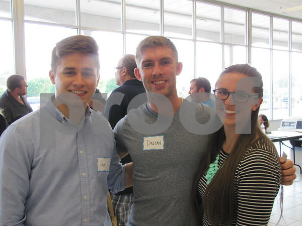 Nate Davis, Dustan Kraus, and Ellen Kraus attended the event.