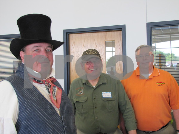 Jim Kimpell of the Fort Museum, Marc Murchison of Ducks Unlimited, and Steve Vance of Sertoma