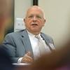 "State Representatives John W. Scibak D South Hadley Chairman of the Labor and Workforce Development addresses the small group at the ""State of Small Business"" roundtable held at The North Central Massachusetts Chamber of Commerce building on South Street Tuesday morning. SENTINEL & ENTERPRISE/JOHN LOVE"