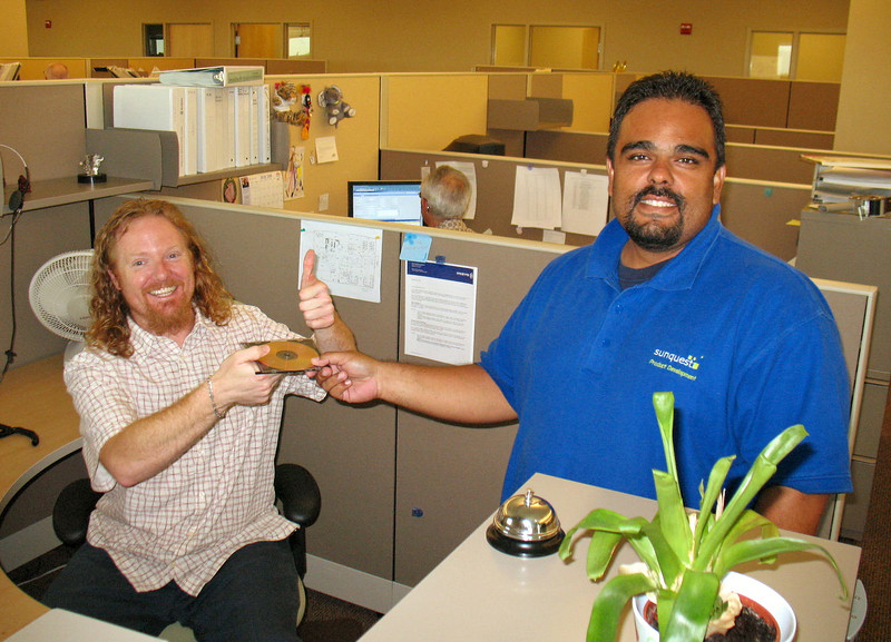 The official handoff: Software Distribution receiving the GA Build from Configuration Management.