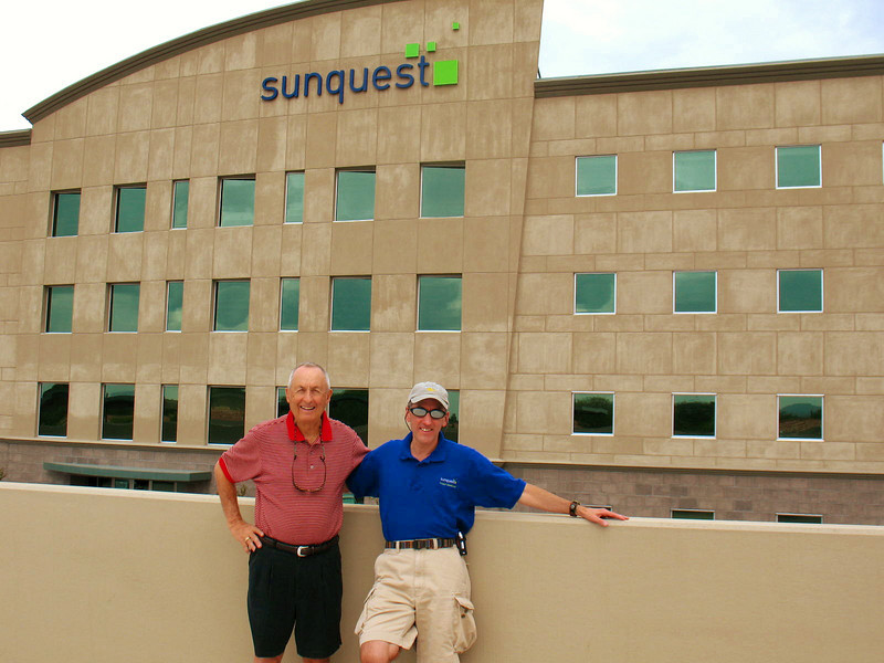 10/4/08: Dad and I visiting Sunquest.