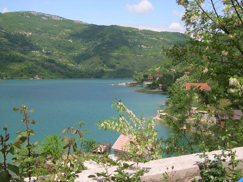 Overlooking beautiful lake on the way to Mostar.