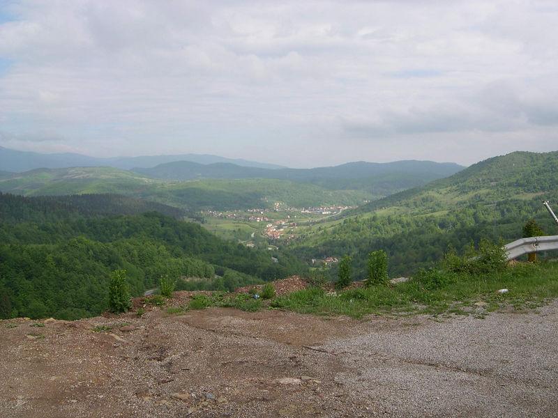 View from mountains near Sarajevo.