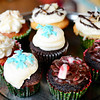 An assortment of Owner Gloria Castano's cupcakes at her business, Sweet Creations by Gloria at 5 West St. in downtown Leominster, Wednesday.  All of her cupcakes can be made to be vegan and gluten-free. Each one sells for $2.25.<br /> SENTINEL & ENTERPRISE / BRETT CRAWFORD