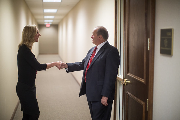 Hallway Handshake