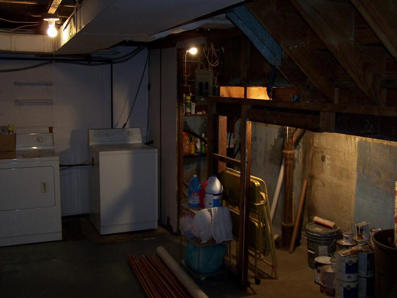 Before pics of Saint Louis Hills area basement rehab.