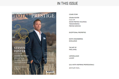Total Prestige Magazine - Cover