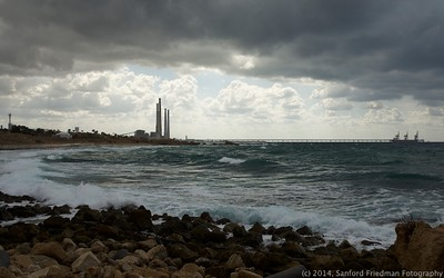Industrial Haifa from Caesarea