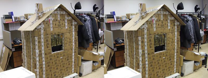 2010-12-17, Cardboard Cottage at KK12 (3D RL)