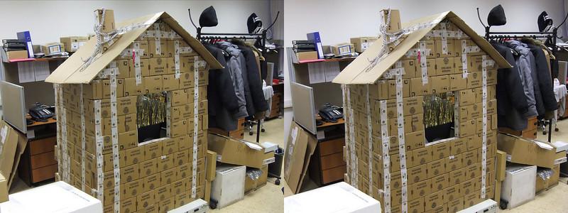 2010-12-17, Cardboard Cottage at KK12 (3D LR)