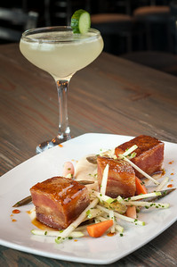 Crispy Pork Belly and Cucumber Martini