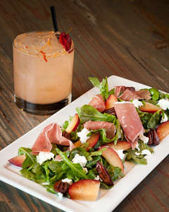 Wild Arugula Salad and Chili Margarita