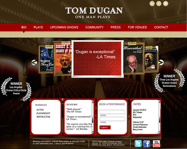 Tom Dugan Plays proposed website ideas