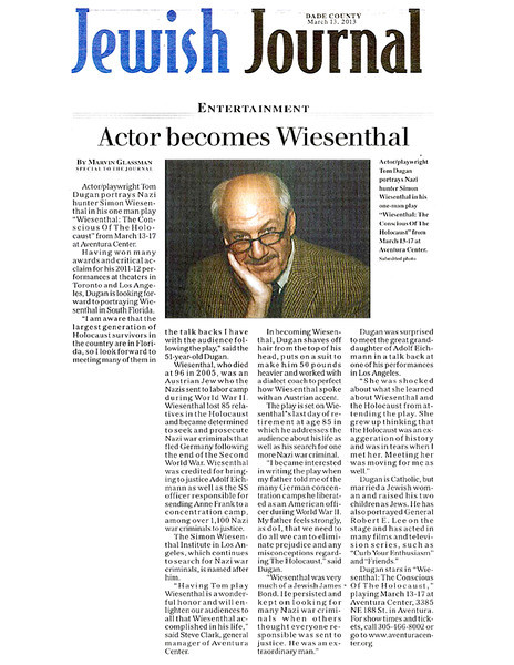 td JewishJournal March2013 Wiesenthalclipping