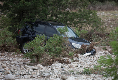 Crashed Car in Riverbed - Flood Disaster in Olympos, Turkey, Asia