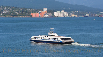 Seabus between Downtown Vancouver and North Vancouver - View from Canada Place, Vancouver, British Columbia, Canada
