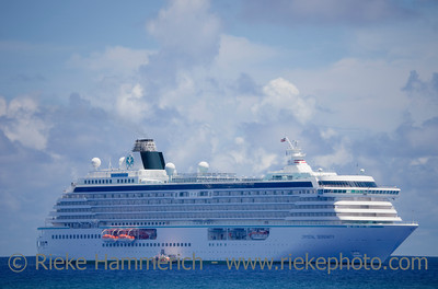 Cruise Ship on South Pacific Ocean - Rarotonga, Cook Islands, Polynesia, Oceania
