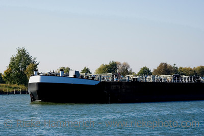 bow of a ship on a channel - inland navigation vessel - adobe RGB