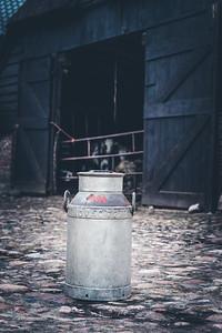 Melkbus voor de stal