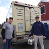 Tully Farms Dairy in Dunstable is doing more delivery business due to the Covid-19 pandemic. Charlie Tully and his nephew Zack Millett, 17, both of Dunstable, after a busy delivery run. (SUN/Julia Malakie)