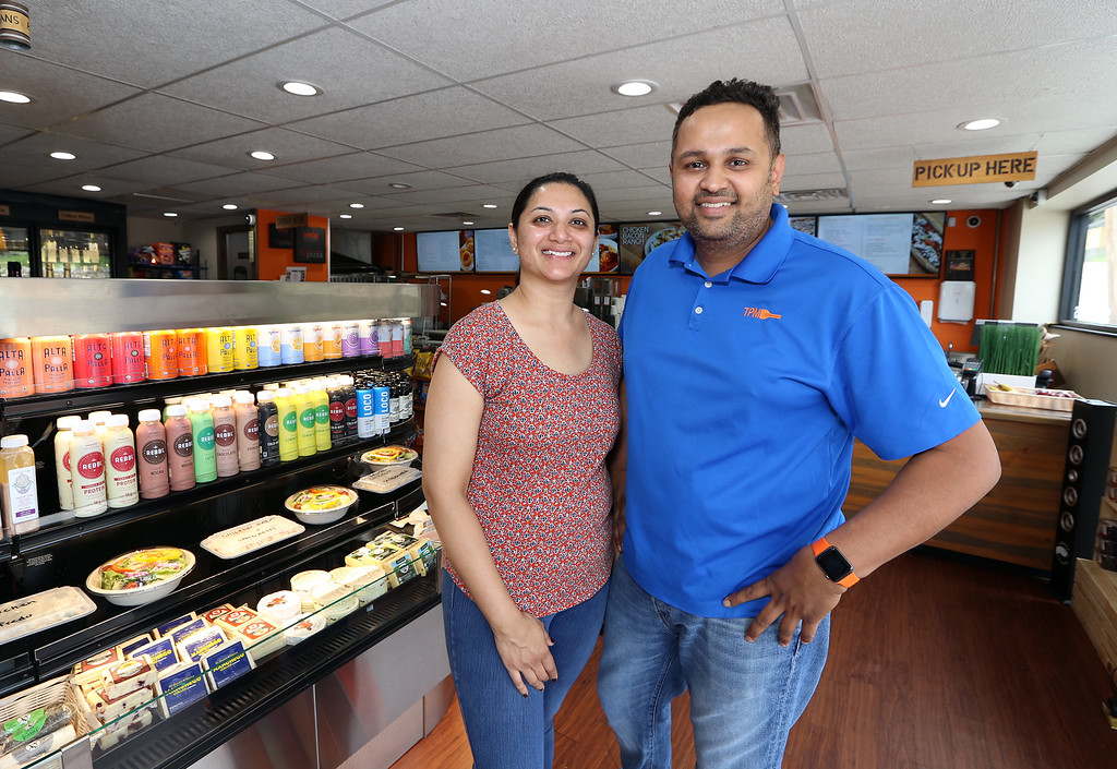 . Turnpike Market on Middlesex Turnpike in Billerica. Owners Kinnari and husband Sam Patel of Billerica. (SUN/Julia Malakie)