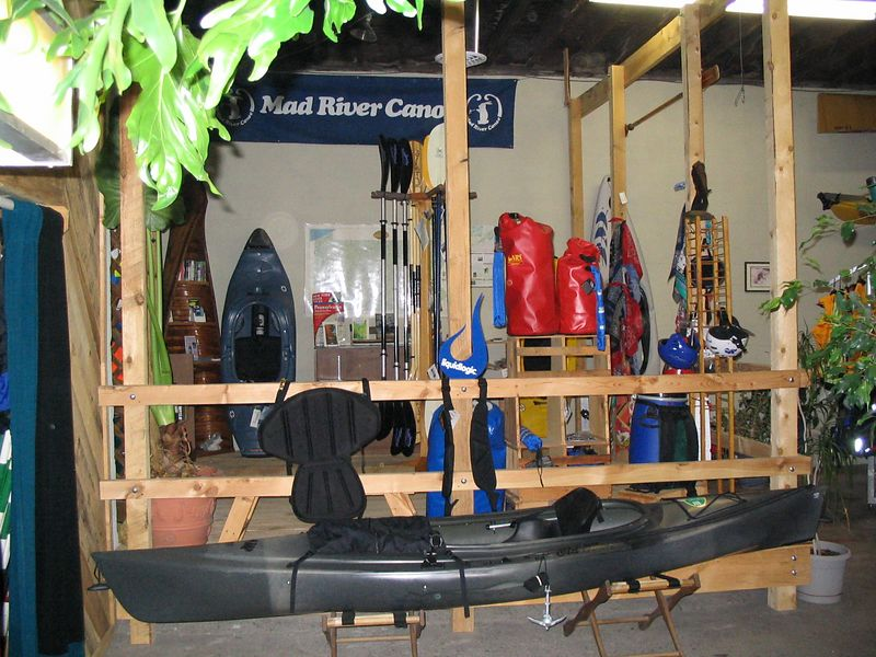 There is a  pretty nice selection of items to look at. From Kayaks to Dry bags to wet suits and PFD's.