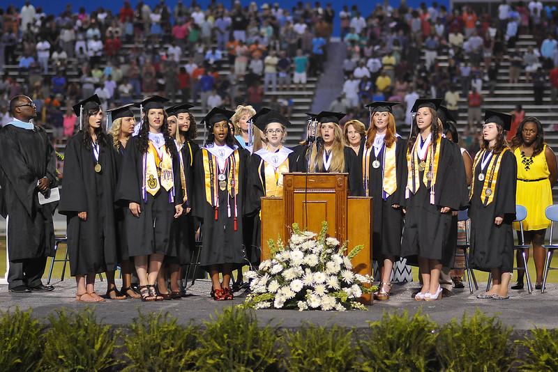 14 Alma Mater Chorus and Senior Class 908