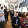 Opening ceremony and ribbon-cutting for the UMass Lowell Fabric Discovery Center at 110 Canal. (SUN/Julia Malakie)