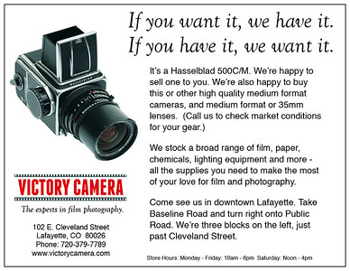 Victory Camera Hasselblad Continuity Ad - 4x5.17