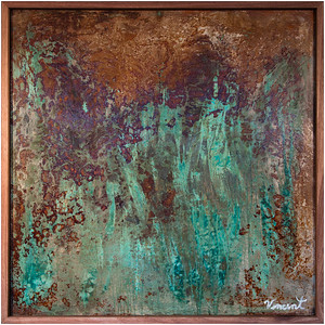 4ft x 4ft - Corrosion Art on Canvas