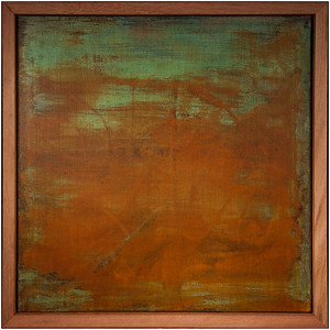 2ft x 2ft - Corrosion Art on Canvas