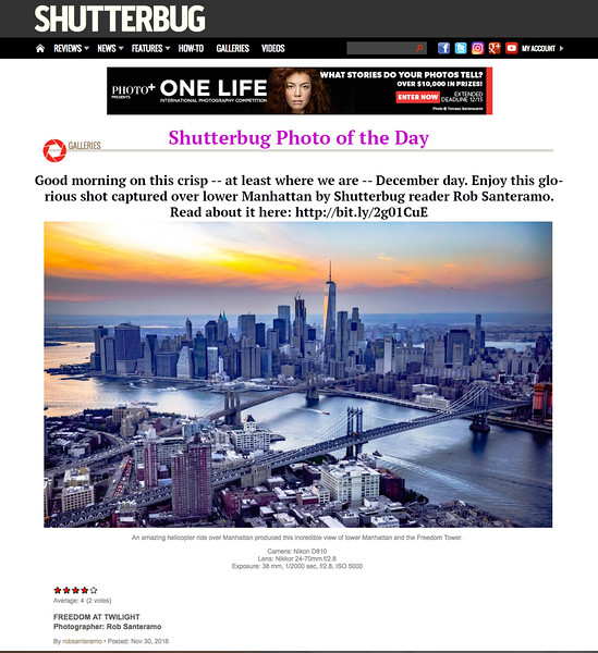 "Shutterbug Magazine ""PHOTO OF THE DAY"""