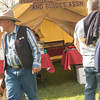 Washington Outfitters & Guides Association registration tent, 49er Days, Winthrop, WA on May 10, 2014