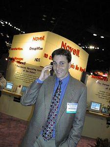 Paul on phone, circa 1997.