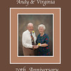 Andy & Virginia Lawrence 70th Anniversary Crop 11 inch