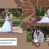 Courtney & Jonathan Affinity 8x10 Portrait Spread - 17-18 w wed date white box brown backg