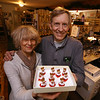 """Family-owned-company, Wee Forest Folk, makes miniatures in Carlisle. Owners Donna Robbins and her brother Willy Petersen, whose mother Annette Petersen, now 101, founded the company. This miniature, """"Loving You!"""" is one of Annette's designs.  (SUN/Julia Malakie)"""