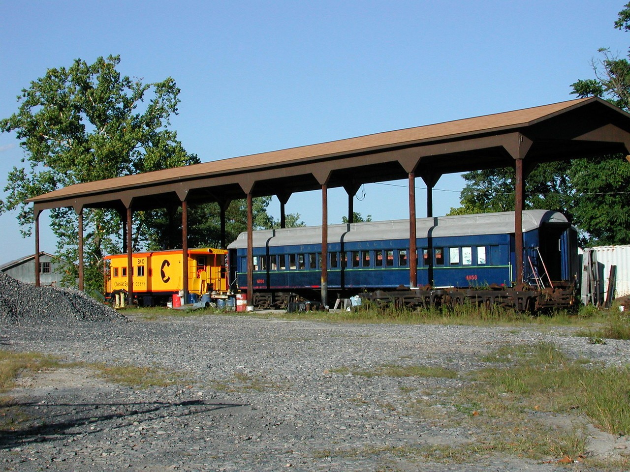 Outside of Romney, appears this scene. I can't say much about the trains in this image, but the sign clearly mentioned it was State owned property.