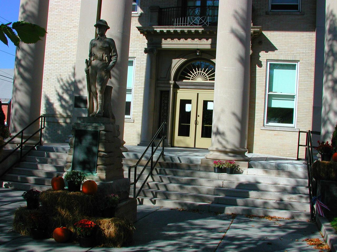Front door to Romney, WVA courthouse.